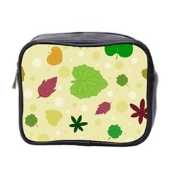 Leaves Pattern Mini Toiletries Bag 2-Side
