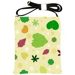 Leaves Pattern Shoulder Sling Bags