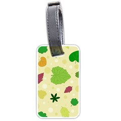 Leaves Pattern Luggage Tags (One Side)