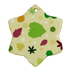 Leaves Pattern Snowflake Ornament (Two Sides)