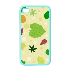 Leaves Pattern Apple iPhone 4 Case (Color)
