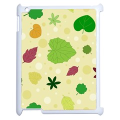 Leaves Pattern Apple iPad 2 Case (White)