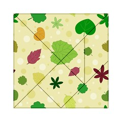 Leaves Pattern Acrylic Tangram Puzzle (6  X 6 )