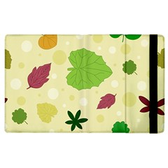 Leaves Pattern Apple iPad 2 Flip Case