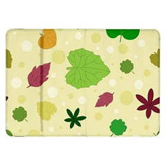 Leaves Pattern Samsung Galaxy Tab 8.9  P7300 Flip Case