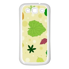 Leaves Pattern Samsung Galaxy S3 Back Case (White)