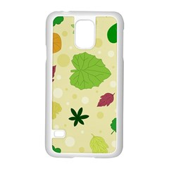 Leaves Pattern Samsung Galaxy S5 Case (White)