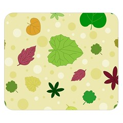 Leaves Pattern Double Sided Flano Blanket (Small)