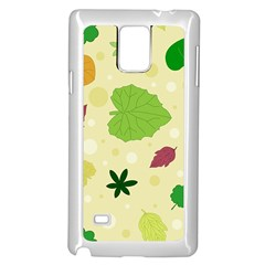 Leaves Pattern Samsung Galaxy Note 4 Case (White)