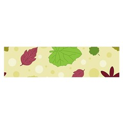 Leaves Pattern Satin Scarf (Oblong)