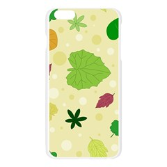Leaves Pattern Apple Seamless iPhone 6 Plus/6S Plus Case (Transparent)