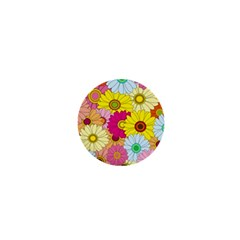 Floral Background 1  Mini Magnets