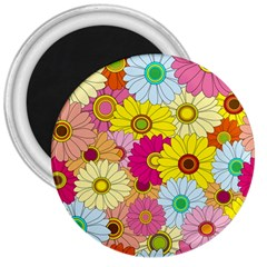 Floral Background 3  Magnets