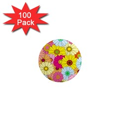 Floral Background 1  Mini Magnets (100 pack)