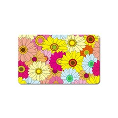 Floral Background Magnet (name Card)