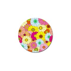 Floral Background Golf Ball Marker (4 pack)