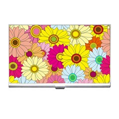 Floral Background Business Card Holders
