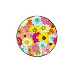 Floral Background Hat Clip Ball Marker (10 pack)