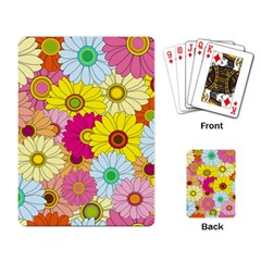 Floral Background Playing Card