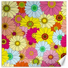 Floral Background Canvas 20  x 20