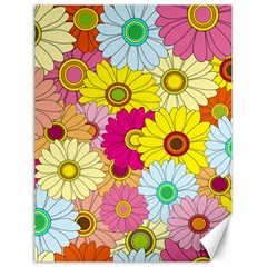 Floral Background Canvas 18  x 24