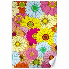 Floral Background Canvas 24  x 36