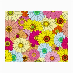 Floral Background Small Glasses Cloth (2-Side)