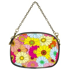 Floral Background Chain Purses (One Side)