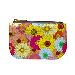 Floral Background Mini Coin Purses