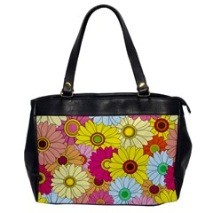 Floral Background Office Handbags