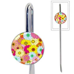 Floral Background Book Mark