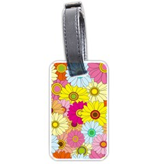 Floral Background Luggage Tags (Two Sides)