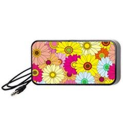 Floral Background Portable Speaker (Black)