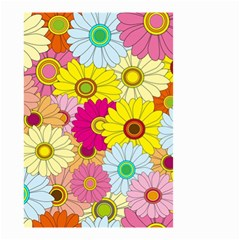 Floral Background Small Garden Flag (Two Sides)