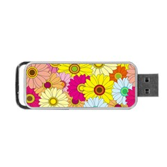 Floral Background Portable USB Flash (One Side)