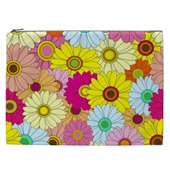 Floral Background Cosmetic Bag (XXL)