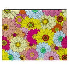 Floral Background Cosmetic Bag (XXXL)