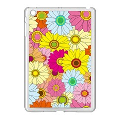 Floral Background Apple iPad Mini Case (White)