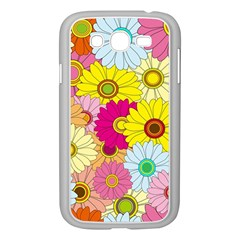 Floral Background Samsung Galaxy Grand Duos I9082 Case (white)