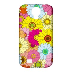 Floral Background Samsung Galaxy S4 Classic Hardshell Case (PC+Silicone)