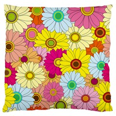 Floral Background Standard Flano Cushion Case (one Side)