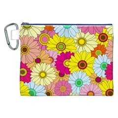 Floral Background Canvas Cosmetic Bag (XXL)