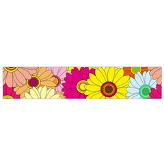 Floral Background Flano Scarf (small)