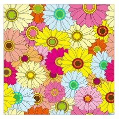 Floral Background Large Satin Scarf (Square)