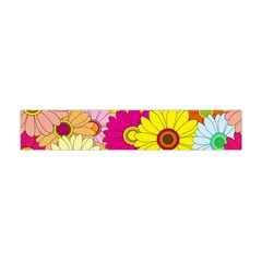 Floral Background Flano Scarf (Mini)