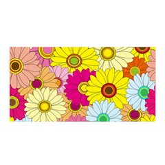 Floral Background Satin Wrap