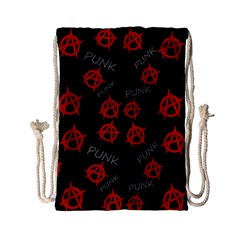 Anarchy pattern Drawstring Bag (Small)