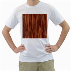 Texture Tileable Seamless Wood Men s T Shirt (white) (two Sided)