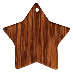 Texture Tileable Seamless Wood Star Ornament (Two Sides)