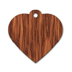 Texture Tileable Seamless Wood Dog Tag Heart (One Side)
